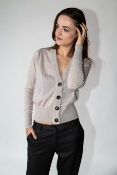 knitwear kara cardigan grey
