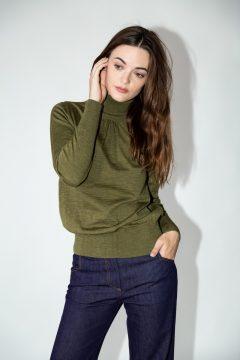turtleneck dorine green