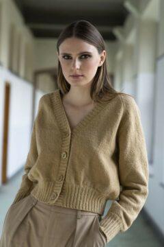 knitwear cardigan kristy beige