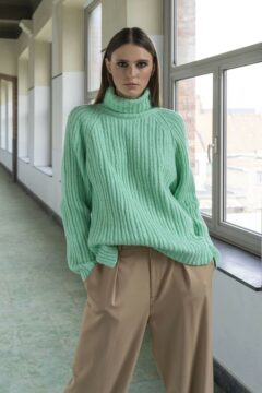 turtleneck sweater kimbra mint green